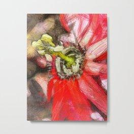 Popy variation 6th - pencil Metal Print