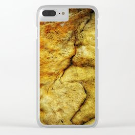 Desert Glow Earth Art Abstract Natural Rock Texture Clear iPhone Case