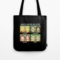 meme Tote Bags featuring Bird meme by Bird gifts for bird folks