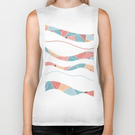Coral lines - Take me to the beach Biker Tank