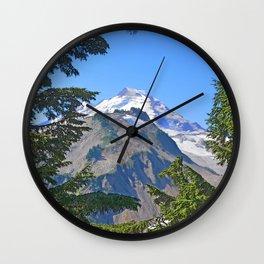 MOUNT BAKER FROM KULSHAN RIDGE Wall Clock