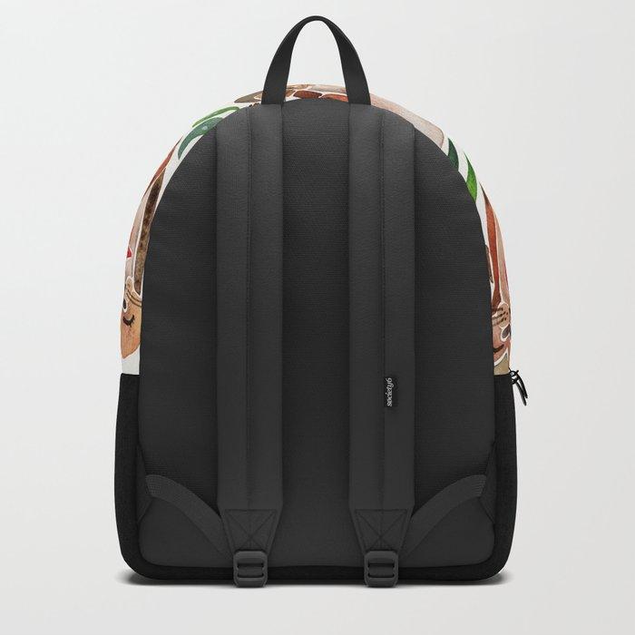 Five Otters – Green Seaweed Backpack