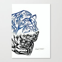 Tribal Lion Canvas Print