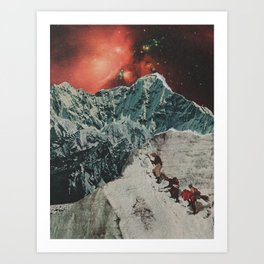 facing everest Art Print