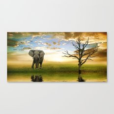 Run to water Canvas Print