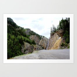 Drive Around the Curve onto a Shelf Above the Spectacular, but Frightening, Uncompahgre Gorge Art Print