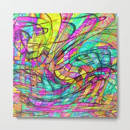 Go With The Flow Metal Print