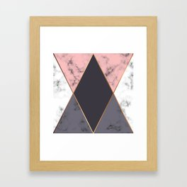 Marble Geometry 018 Framed Art Print