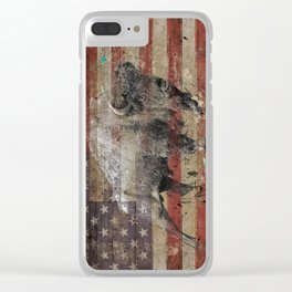 American Bison 2 Clear iPhone Case