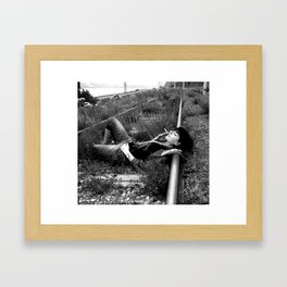 Anytime now... Framed Art Print