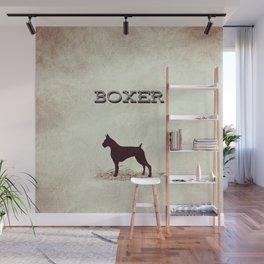 Retro Boxer Distressed Paper Wall Mural