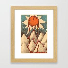 Sun Melting Framed Art Print