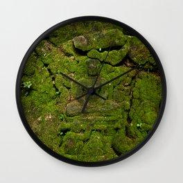 go green - moss buddha Wall Clock
