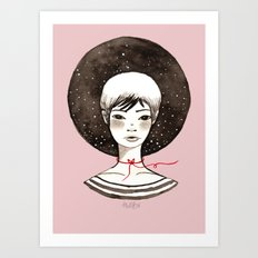 Miss Moon Art Print