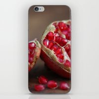 pomegranate iPhone & iPod Skins featuring pomegranate by Life Through the Lens