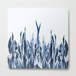 Blue Duotone Metal Print