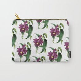 Purple Orchids Vintage Carry-All Pouch
