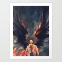angel Art Prints featuring The Angel of the Lord by Alice X. Zhang