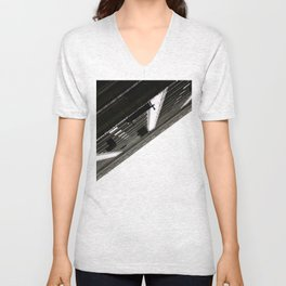 Vertical  Unisex V-Neck