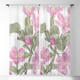 Apple Blossoms Sheer Curtain