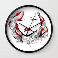 rihanna Wall Clocks featuring Rihanna  by Ina Spasova puzzle