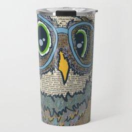 Owl wearing glasses Travel Mug