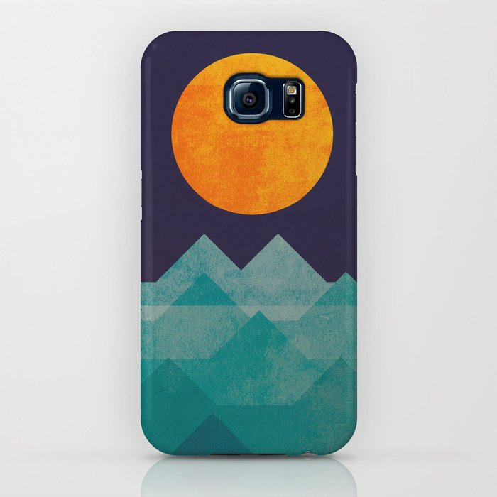 the ocean, the sea, the wave - night scene iphone case