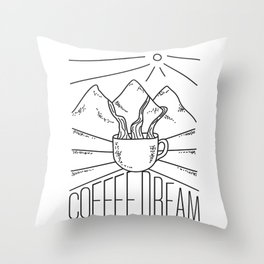 Coffee Dream Throw Pillow