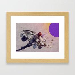 Shot without colliding Framed Art Print