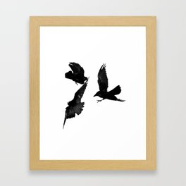 A Trio of Crows Framed Art Print