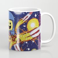 spaceship Mugs featuring Spaceship!  by Brieana