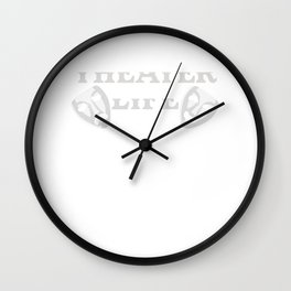 Theater Life Do Odd Things in Public Wall Clock