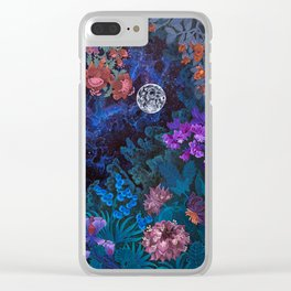 Space Garden Cosmos Clear iPhone Case