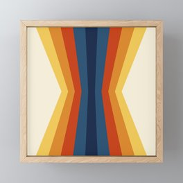 Bright 70's Retro Stripes Reflection Framed Mini Art Print