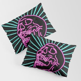 Pink Laughing Skull Pillow Sham