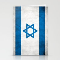 israel Stationery Cards featuring Israel Flag  by Jason Michael
