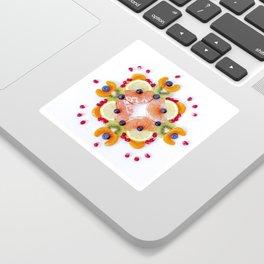 """Sunburst"" Fruit Mandala Sticker"