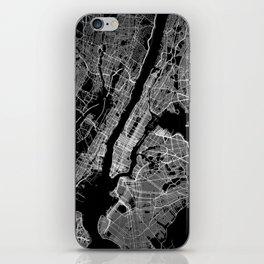 New York map iPhone Skin