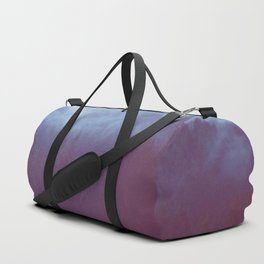 Misty Blue Pine Forest Mountain Fog Modern Photo Minimalist Art Duffle Bag