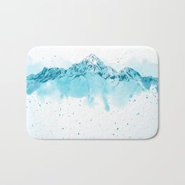 watercolor mountains Bath Mat