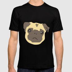 Pug! Mens Fitted Tee Black MEDIUM