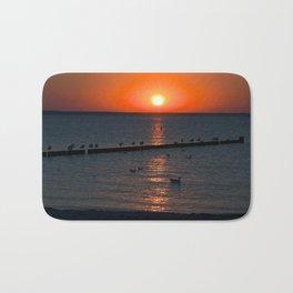 Holy sunset on the Baltic Sea Bath Mat