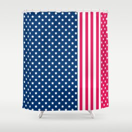 Abstract Patriotic pattern . Shower Curtain