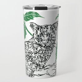 woodblock print Travel Mug