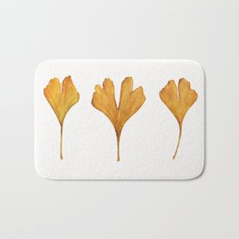 Three Ginkgo Leaves Bath Mat