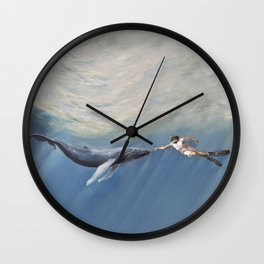 The Creation of Adam the Whale Wall Clock