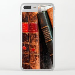 Rustic Antique Library Books Shelf Clear iPhone Case