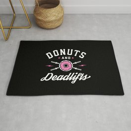 Donuts And Deadlifts Rug