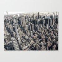 manhattan Canvas Prints featuring Manhattan by Nicklas Gustafsson