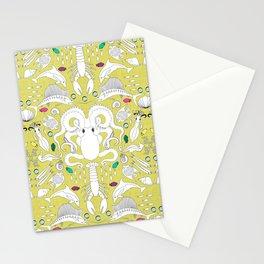 Ocean Damask Stationery Cards